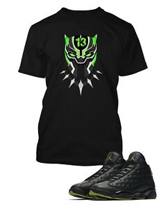07ae866ed03273 Graphic Panther T shirt To match Air Jordan 13 High Altitude Shoe ...
