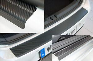SET-fuer-SEAT-ATECA-Einstiegsleisten-Ladekantenschutz-3D-Carbon-Schwarz