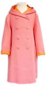 40-Il-Gufo-Wollmantel-mit-Cashmere-Gr-152-12Y-pink-orange-NP-277-00-BRANDNEW