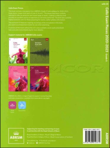 Cello Exam Pieces 2020-2023 Grade 5 Score Part /& CD Test ABRSM SAME DAY DISPATCH