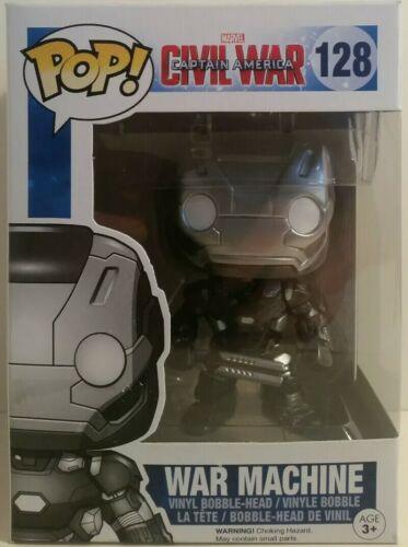 Funko Pop Marvels Captain America Civil War #128 War Machine In Box