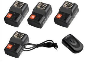 Camera-wireless-flash-trigger-4-receivers-For-CANON-Nikon