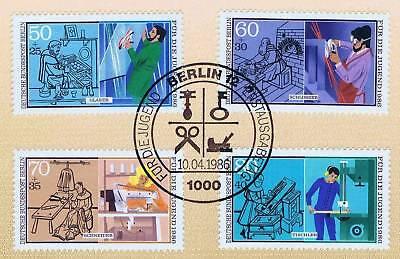 Berlin 1986: Handwerksberufe! Jugend Nr. 754-757 Mit Ersttagsstempel! 1a 1610 GläNzende OberfläChe