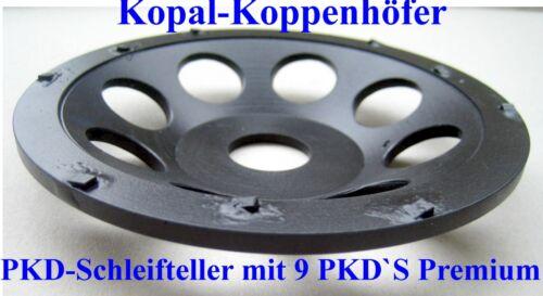 Top PKD-Schleifteller Schleiftopf mit 9 PKD/'s 125 mm Diamant-Schleifteller
