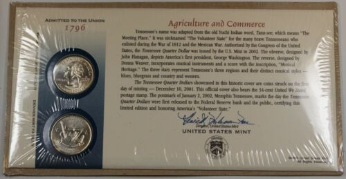 SEALED US Mint Issued Set 2002 Tennessee State Quarters W// P /& D Mint Marks