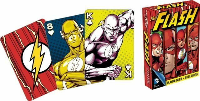 DC Comics The Flash Scarlet Speedster Collectible Playing Cards New