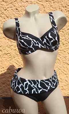 Edler Bikini in tollem Design Gr 40B von NATURANA! NEU! Schwarz, Weiss!