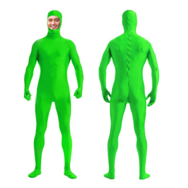 DH Zentai Suit Men/'s Spandex Lycra Halloween Full Body Open Face Costume