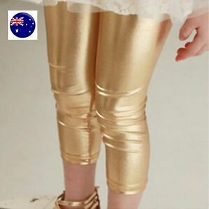 2bf345897fbb6 Image is loading Kid-Girl-Synthetic-leather-Metallic-Gold-Silver-Christmas-
