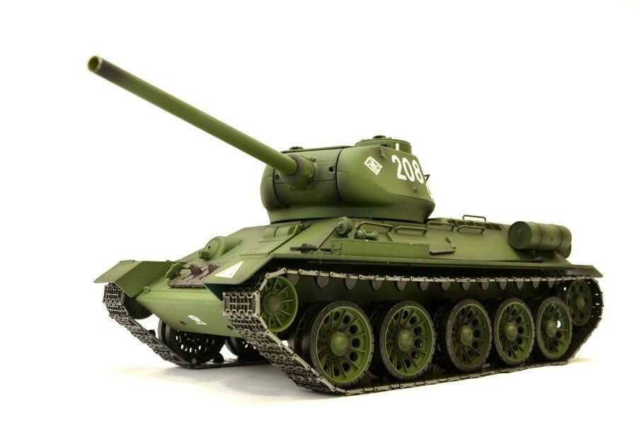 RC Panzer  Russischer T-34 85  1 16 Heng Long -Rauch&Sound + Metallgetriebe