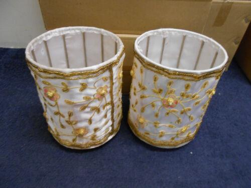 Yankee Candle Embroidery Jar Pillar Holders x 2