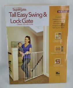 North States Tall Easy Swing And Lock Stairway Gate Linen 4972 Ebay