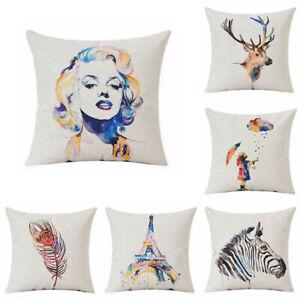 Animals-Cotton-Linen-Cotton-Linen-Waist-Cushion-Cover-Home-Decor-Marilyn-Monroe