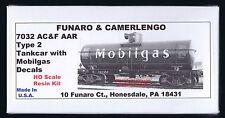 Funaro F&C 7032 MOBILGAS Mobil Gas SVX Tank Car AC&F ACF Type 2 AB Brake Tankcar