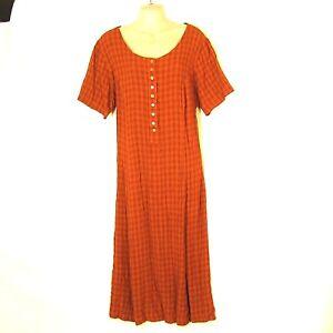 d0cba3b552e0e Details about Long Plaid Dress 1X 24 Button Modest No Slit Lane Bryant -BUY  3 for FREE Ship