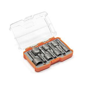 TACTIX-Stecknuss-Set-6-13mm-7-tlg-1-4-034-Zoll-CrV-Stahl-magnetisch-Bit-Nuss-Satz