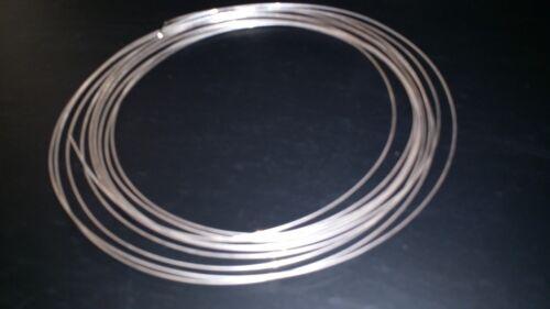 Plata Esterlina Redondos Alambre 0,8 mm 20 Gauge X 3 pies