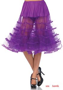 SEXY Petticoat Sottogonna Vinaccia Lunghezza Media taglia unica Fashion GLAMOUR