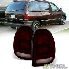 1996-2000 Dodge Caravan Town & Country Voyager 98-03 Durango Dark Red Tail Lamps