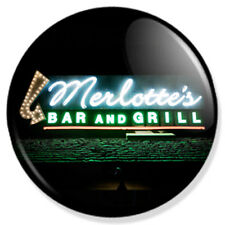 """Merlotte's Bar and Grill Sign True Blood 1"""" Pin Button Badge Vampires TV Show"""