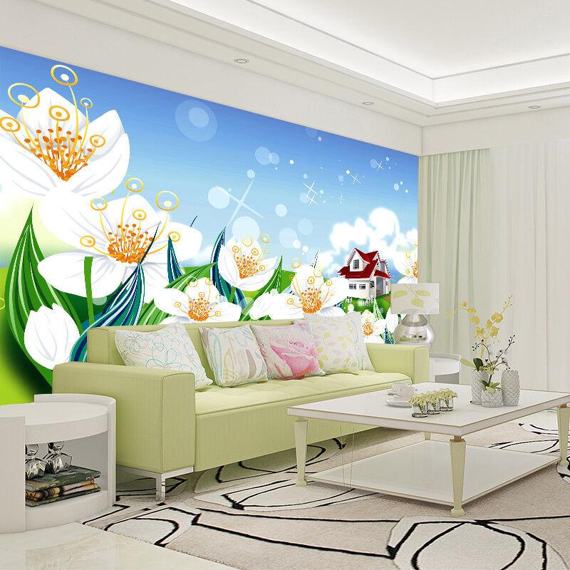 3D Gemalt Blaumen Himmel 8933 Tapete Wandgemälde Tapeten Bild Familie DE Lemon