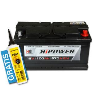 PKW-Batterie-Autobatterie-12V-100Ah-Starterbatterie-ers-74-83-88-90-92-95-105Ah