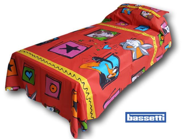 Copripiumino Bassetti Looney Tunes.Bassetti Parure Duvet Cover Copripiumone Single 1 Square Looney Tunes Ebay