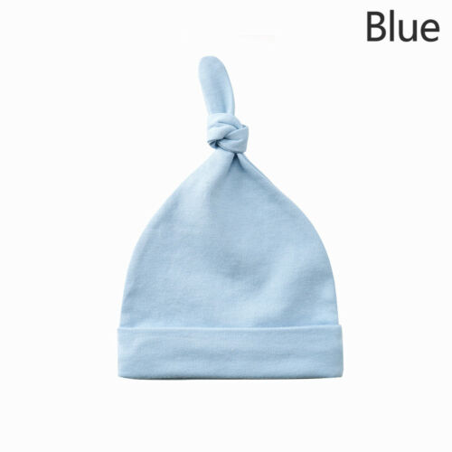 New Cute Newborn Toddler Baby Infant Knot Hat Cotton Soft Solid Beanie Cap