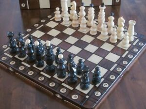 Brand New  Hand Crafted  Wooden Chess  Board 50cm x 50cm
