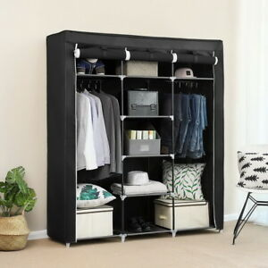 69-034-Portable-Closet-Wardrobe-Clothes-Ample-Storage-Space-Organizer-Armoire-Free