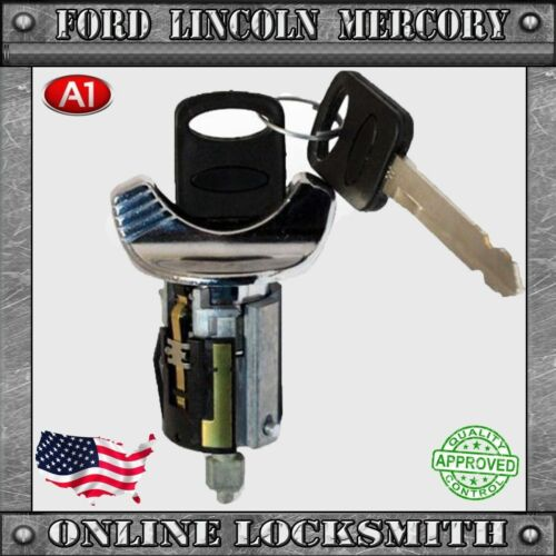 New Lincoln Town Car 1993-1996 10-Cuts Coded Ignition Switch Cylinder w Two Keys