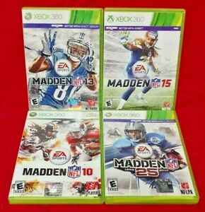 XBOX-360-Sport-Game-Lot-Madden-NFL-Football-10-13-14-15-Tested-EA-Sports
