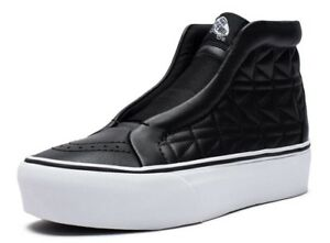 7e6d238e5f VANS (KARL LAGERFELD) SK8-HI LACELESS PLATFORM LEATHER BLACK SHOES ...