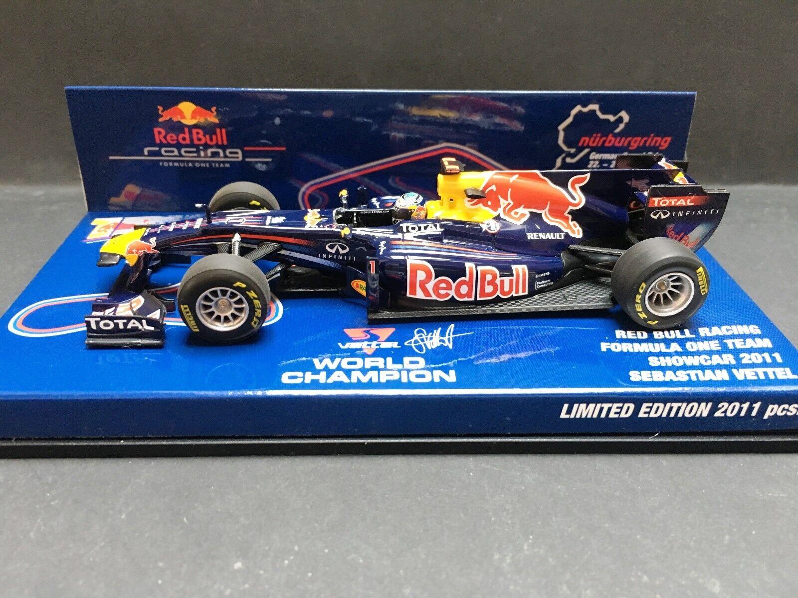 Minichamps - Sebastian Vettel - rosso Bull - RB7 - 2011 -1 43 - Nürburgring Promo