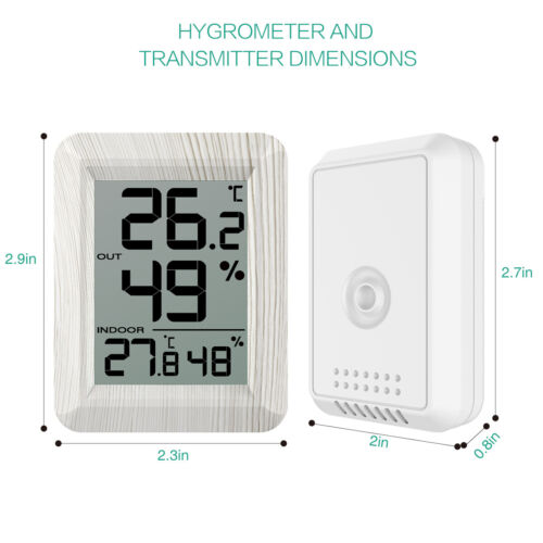 Mini Digital LCD Outdoor Indoor Room Thermometer Hygrometer Temperature Humidity