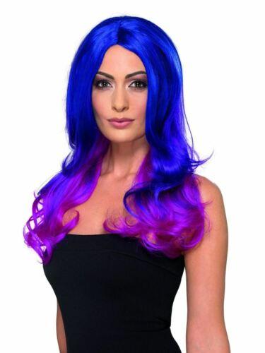 Moda Ombre peluca azul y rosa