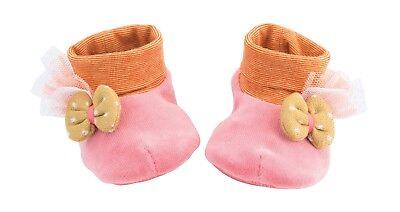 Moulin Roty Les Tartempois Rosa Morbido Pantofole Bambino 0 - 6 Mesi Da Wyestyles-mostra Il Titolo Originale Ampia Selezione;