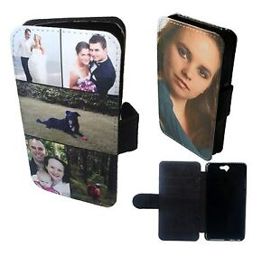 reputable site 74ab7 ef7ae Details about PERSONALISED CUSTOM PRINTED Phone Wallet Case Collage Flip  Cover For HTC One A9