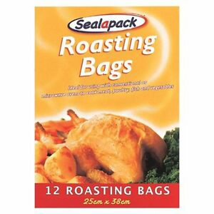 12 Roasting Bags Cooking Meat Vegetables dans Oven or Microwave 25 x 38 cm