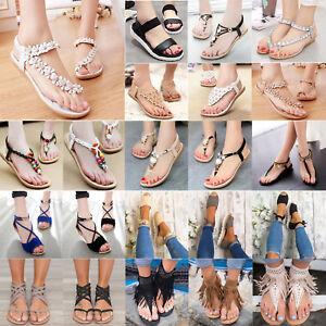 1a297b794 Women Sandals Flip Flops Flat Ladies Summer Beach Slippers Clip Toe ...