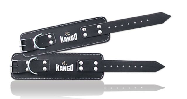 Kango High Quality Leather Ankle Strap Fitness Body Building Weight Lifting 1Pcs