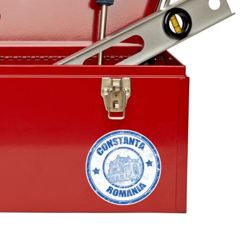 2 x 10 cm autocollant Drapeau Roumanie Vinyl Decal portable voyage voiture bagages tag # 5863