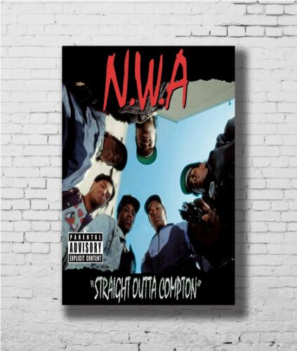 24x36 14x21 Poster NWA Ice Cube Dr Dre Gangsta Rapper Stars Street Art P-2663
