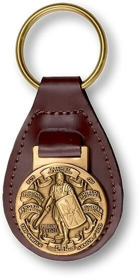 NEW Armor of God Leather Key Fob. 60908.