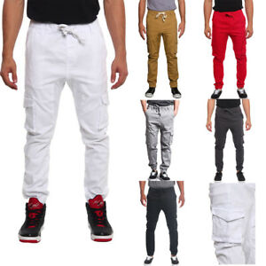 Victorious Mens Wheat Twill Drop Crotch Jogger Pants