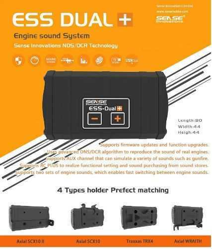 RC Car ess dual + motor Sound módulo adecuado para Traxxas trx-4, axial SCX, etc.
