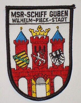 """NVA Volksmarine Aufnäher Patch MSR-Schiff /""""Guben/"""" Wilhelm-Piek-Stadt ......A3681"""