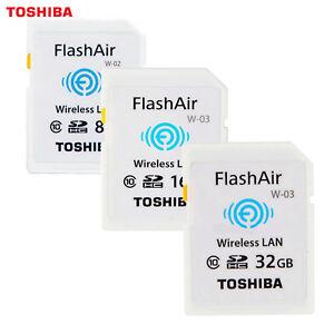 16GB-32GB-64GB-WIFI-SD-TOSHIBA-Class-3-Wi-Fi-Memory-Card-Wireless-Class-10-UHS-I