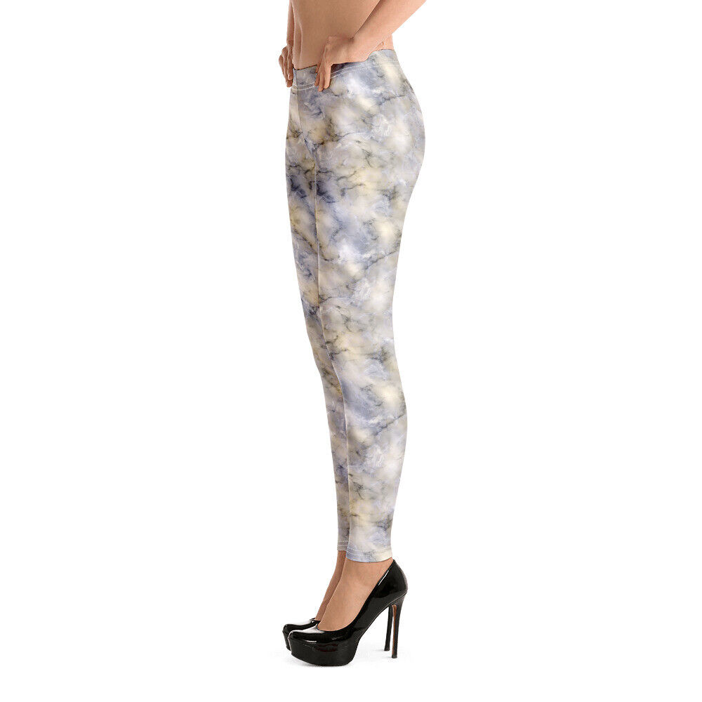 Image 4 - Leggings decorated with a wonderful marble effect