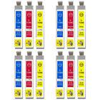 12 C/M/Y ' compatible con Cartuchos de Tinta PARA REEMPLAZAR T0712 T0713 T0714 (
